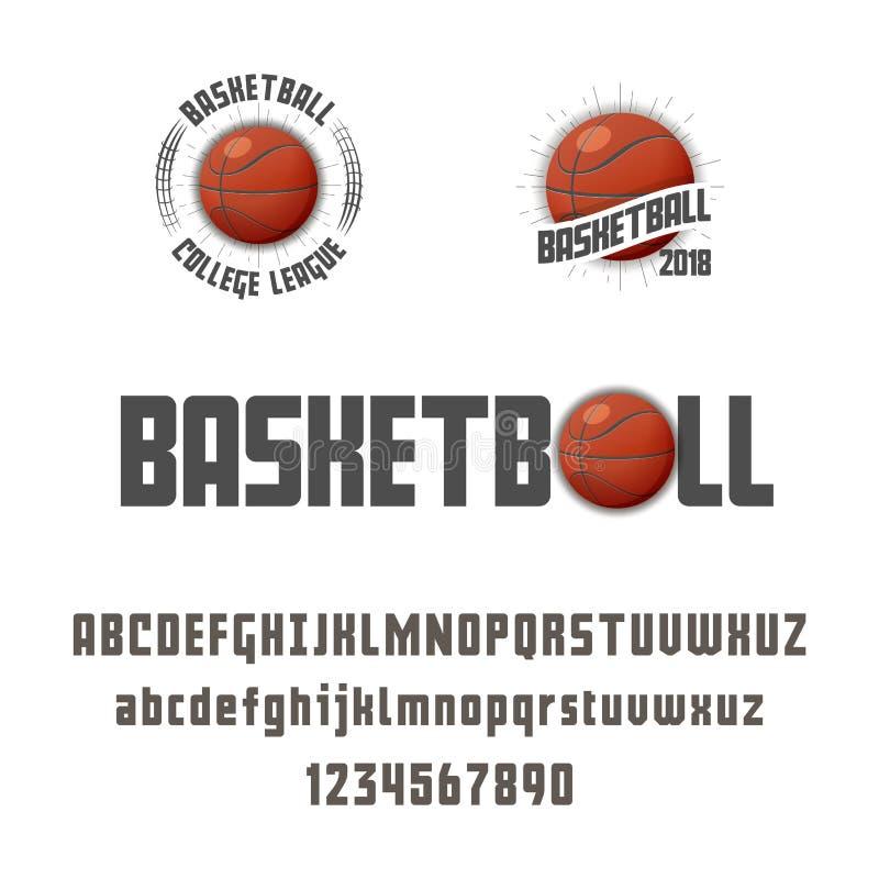 Uppsättning av basket - emblem, logo och stilsort också vektor för coreldrawillustration stock illustrationer