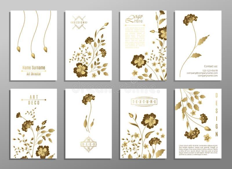 Uppsättning av begreppet för blommabröllopprydnad Traditionell konst, tidskrift, bok, affisch, abstrakt begrepp, beståndsdel Vekt vektor illustrationer