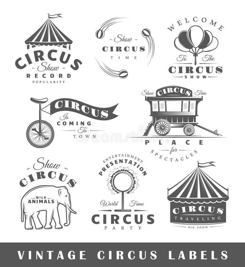 Uppsättning av beståndsdelar av cirkusen arkivbild