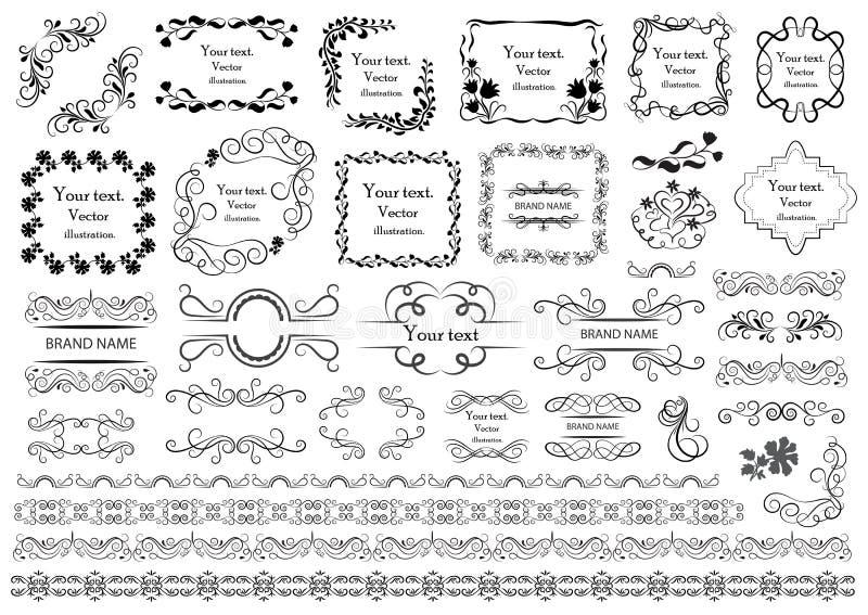 Uppsättning av beståndsdelar för vektordiagram för design royaltyfri illustrationer