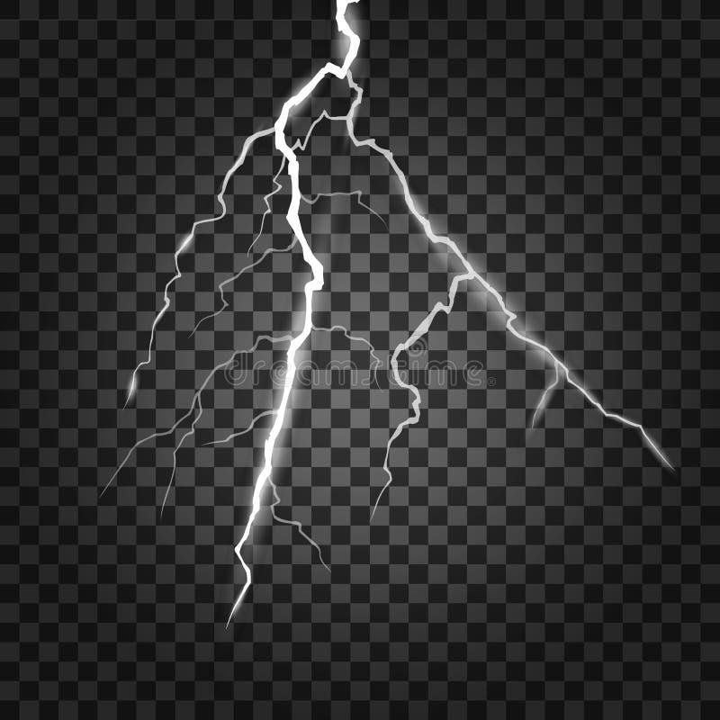 Uppsättning av blixtar Åska-storm och blixtar Magiska och ljusa belysningeffekter också vektor för coreldrawillustration vektor illustrationer