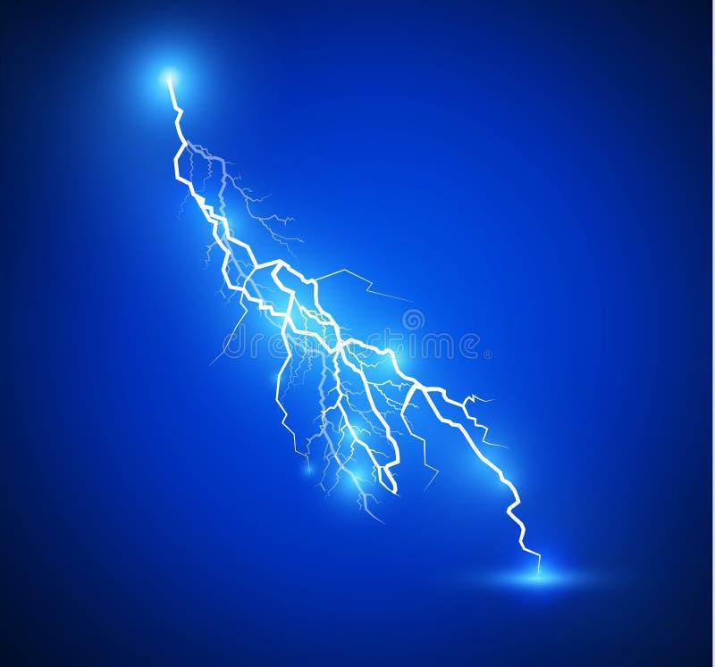 Uppsättning av blixtar Magiska och ljusa belysningeffekter stock illustrationer