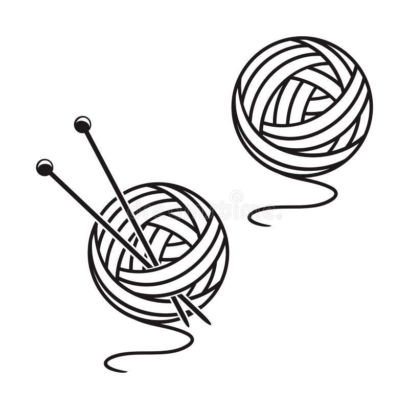 Uppsättning av bollar av ett garn vektor illustrationer