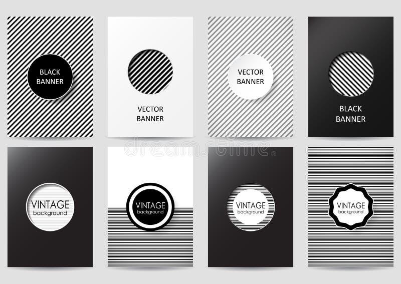 Uppsättning av broschyrer vektor illustrationer