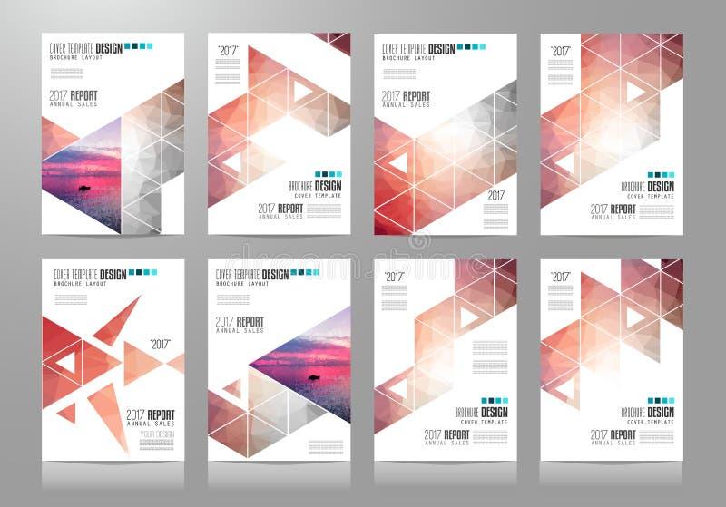 Uppsättning av broschyrmallar, reklambladdesigner eller Depliant räkningar för affär vektor illustrationer