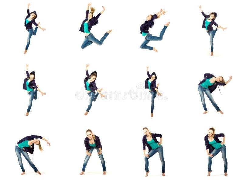 Uppsättning av dansareflickan royaltyfri foto