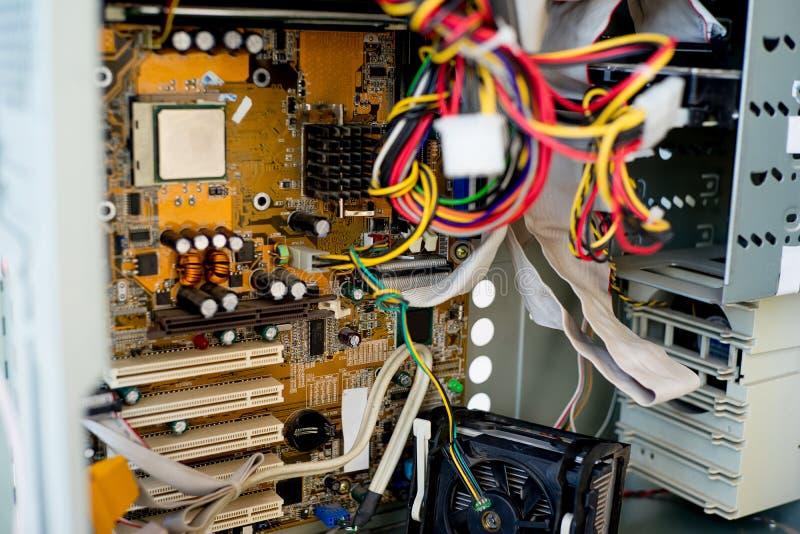 Uppsättning av datormaskinvara royaltyfri foto