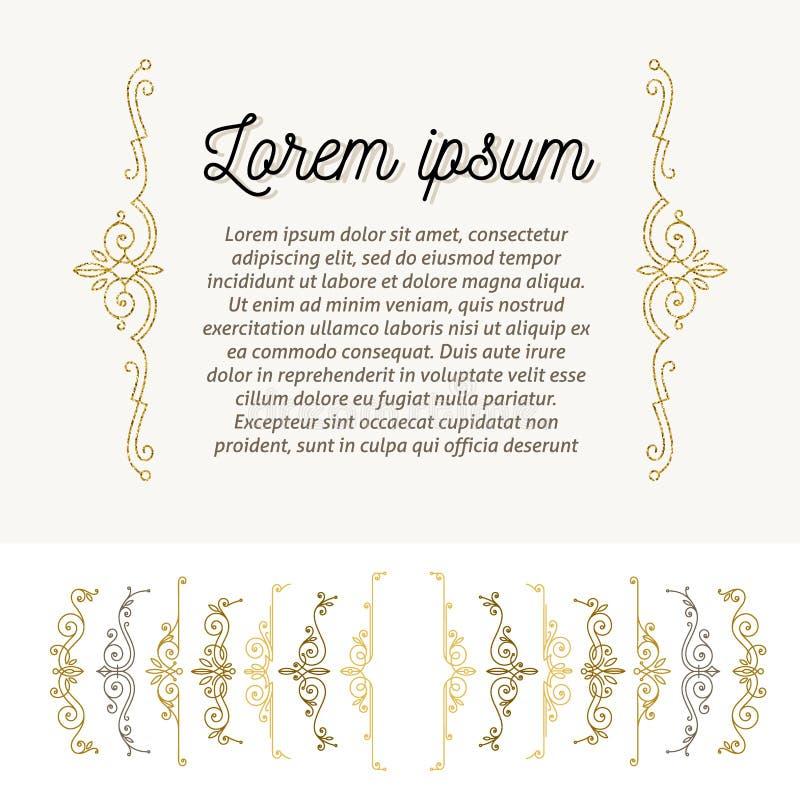 Uppsättning av dekorativ krusidullhänglsen vektor illustrationer