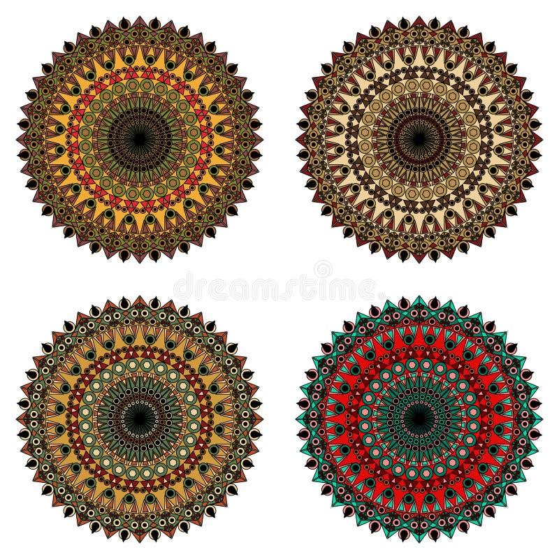 Uppsättning av dekorativa beståndsdelar royaltyfria bilder