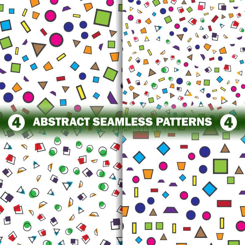 Uppsättning av den abstrakta sömlösa geometriska modellen vektor illustrationer