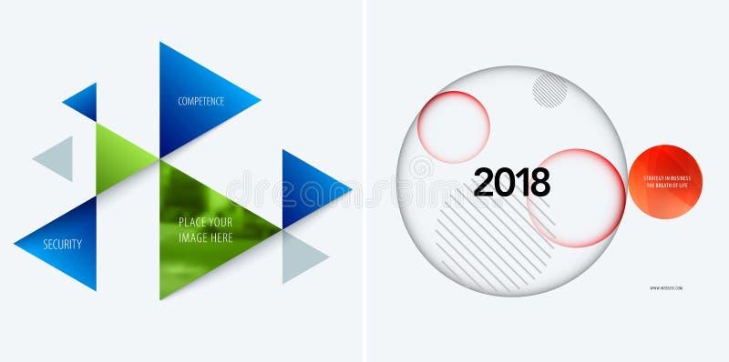 Uppsättning av den abstrakta vektordesignen för grafisk mall Idérik modern affärsbakgrund stock illustrationer