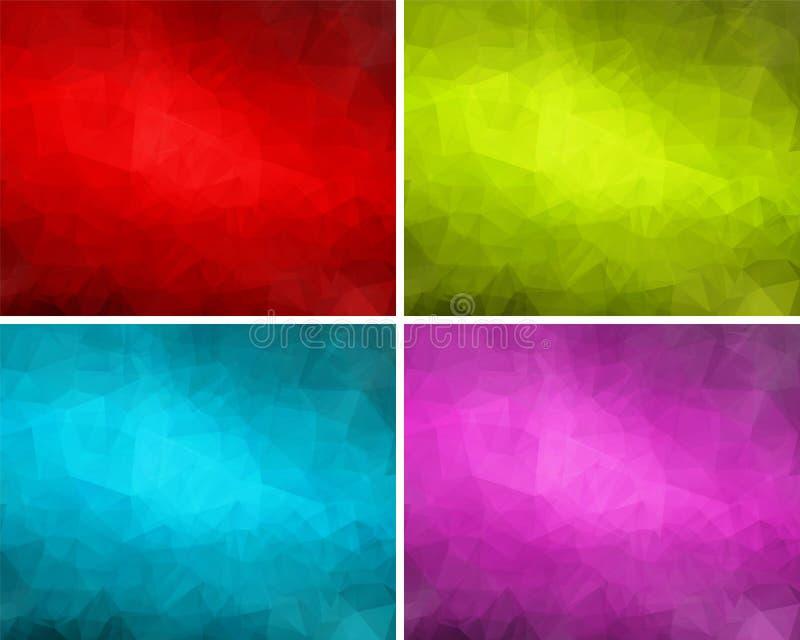 En uppsättning av polygonal bakgrunder 3 vektor illustrationer