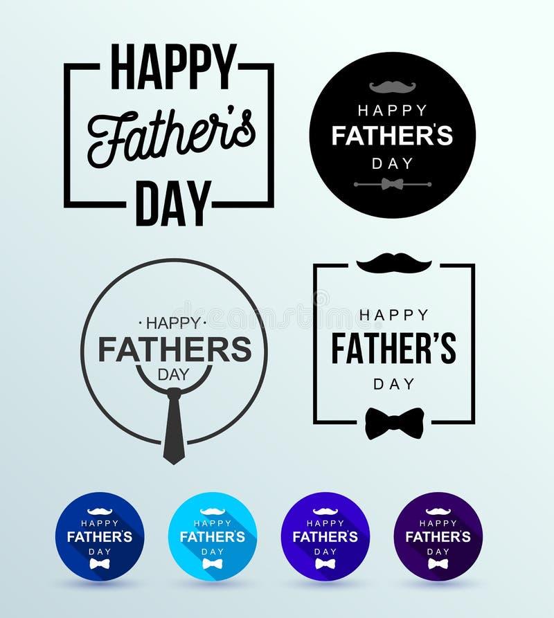 Uppsättning av den lyckliga designen för dag för fader` s Ljust baner för kalligrafi Farsa min konung Plan design också vektor fö vektor illustrationer