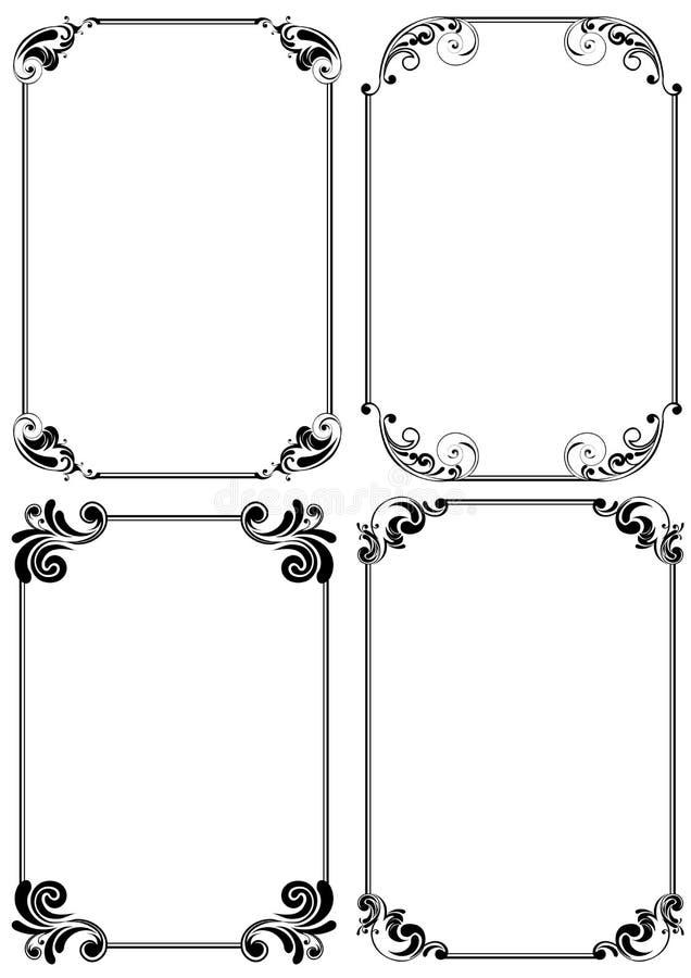 Uppsättning av den vertikala ramen för vinkel stock illustrationer