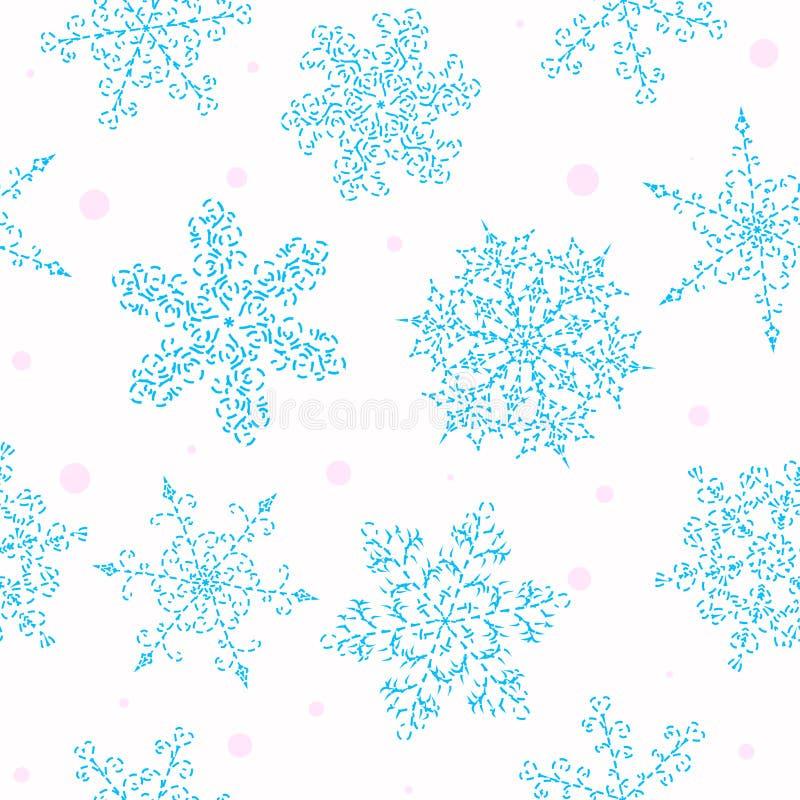 Uppsättning av dendrog svartvita snöflingan vektor illustrationer