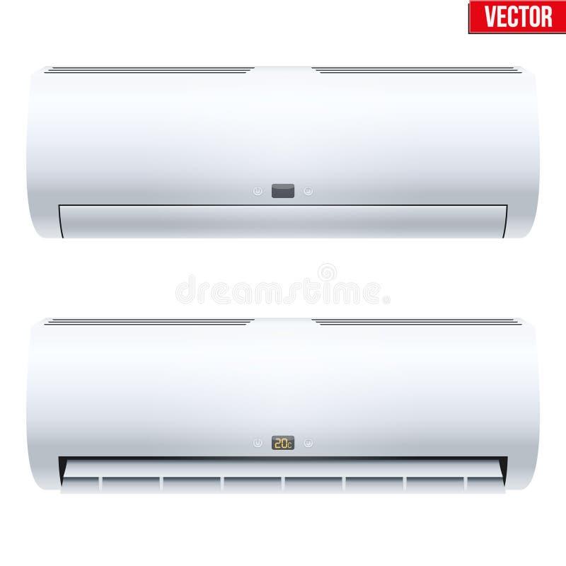Uppsättning av det kluvna luftkonditioneringsapparathussystemet vektor illustrationer