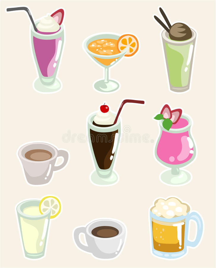 Uppsättning av drycker vektor illustrationer