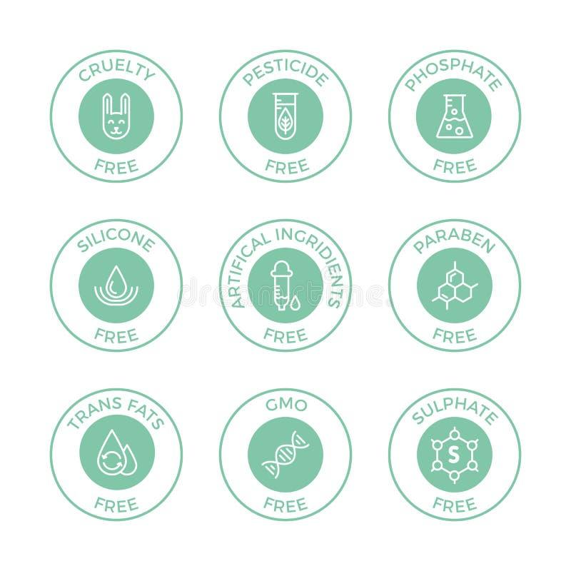 Uppsättning av Eco emblem arkivbilder