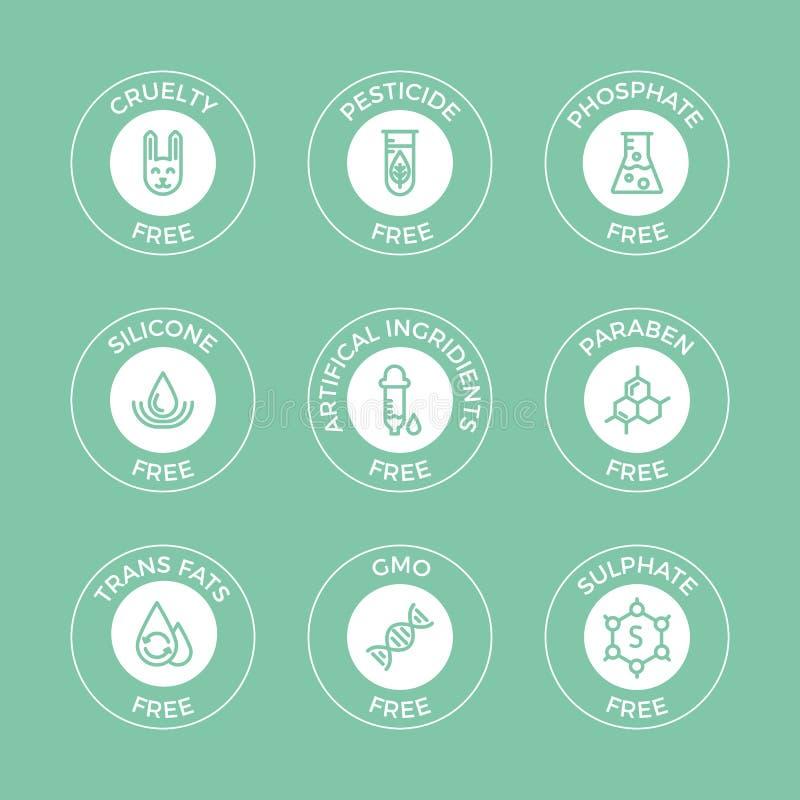 Uppsättning av Eco emblem arkivbild