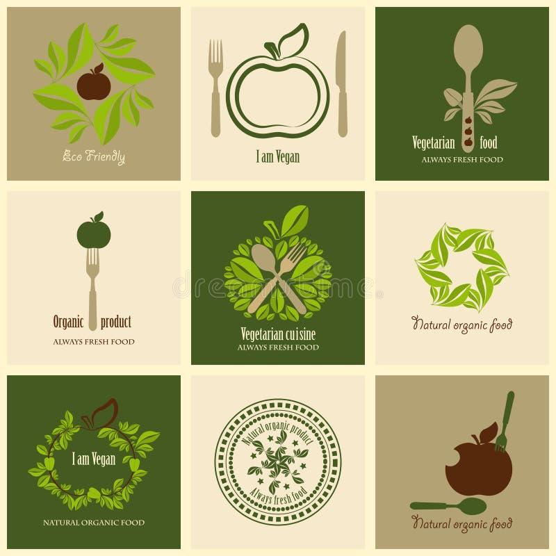 Uppsättning av ecosymboler stock illustrationer