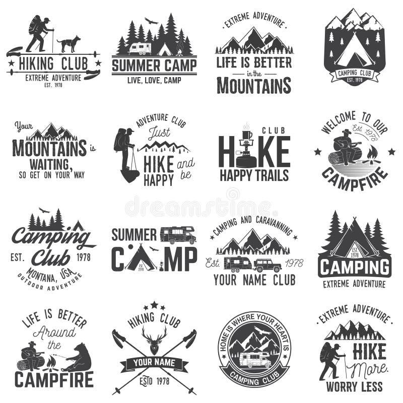 Uppsättning av extrema affärsföretagemblem Begrepp för skjorta eller logo, tryck, stämpel eller utslagsplats royaltyfri illustrationer