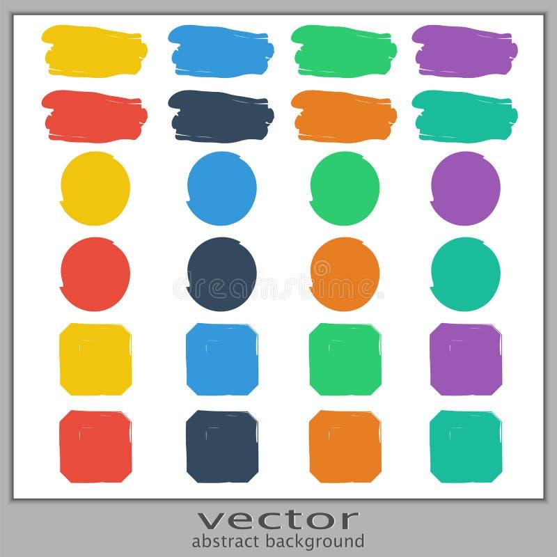Uppsättning av färgrika fläckar vektor illustrationer