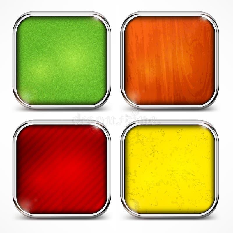 Uppsättning av färgsymboler vektor illustrationer