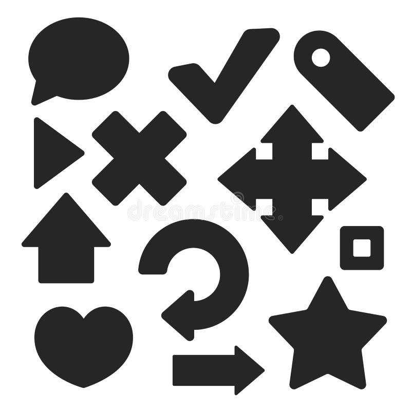 Uppsättning av för rengöringsduk- och mobillogo för manöverenhet universella symboler vektor stock illustrationer