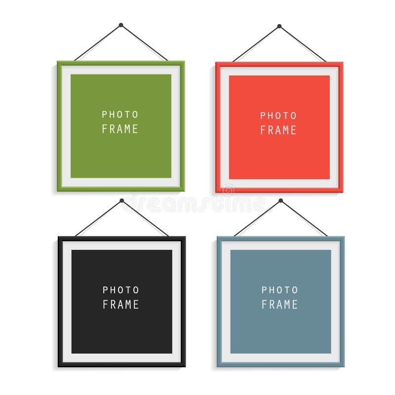 Uppsättning av fyra fotoramar vektor illustrationer