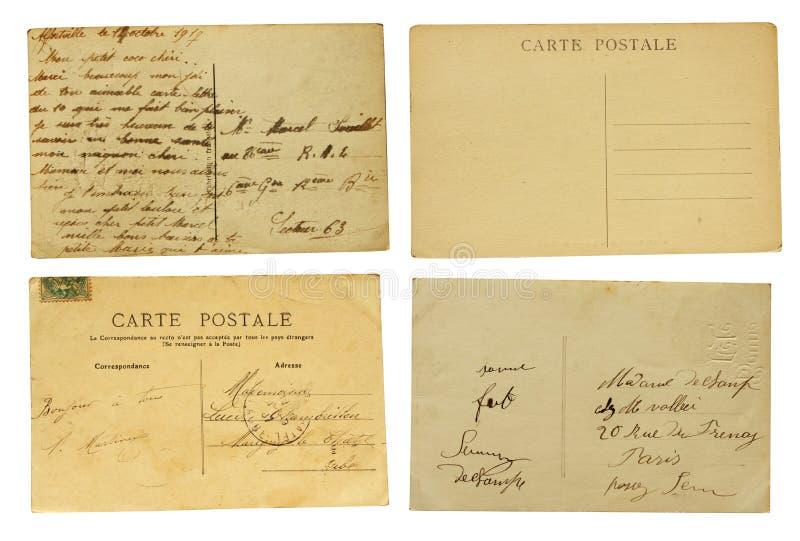 Uppsättning av gamla vykort arkivbild