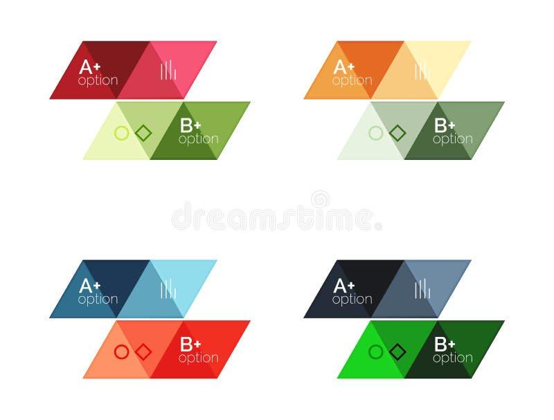Uppsättning av geometriskt infographic för vektortriangel royaltyfri illustrationer