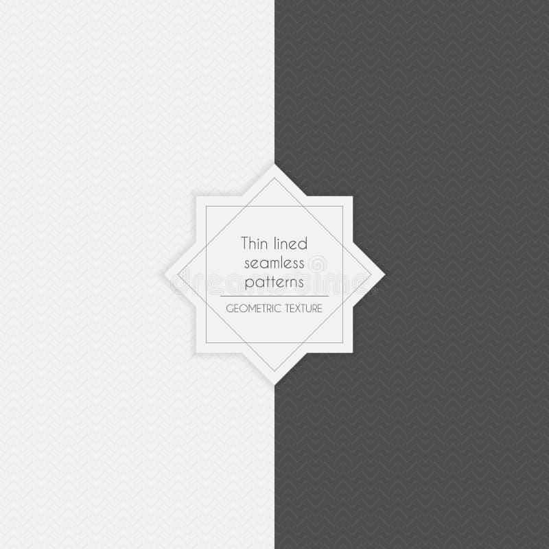 Uppsättning av geometriskt minimalistic thin fodrat sömlöst stock illustrationer