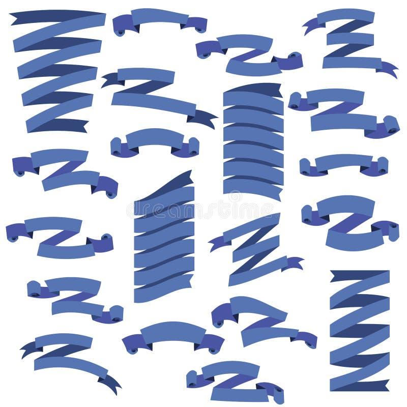 Uppsättning av härliga festliga strumpebandsorden, på vit bakgrund, vektorillustration stock illustrationer