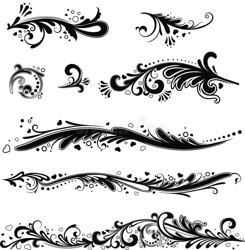 Uppsättning av horisontalmodeller royaltyfri illustrationer
