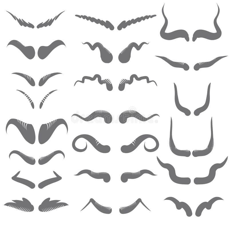 uppsättning av horn stock illustrationer