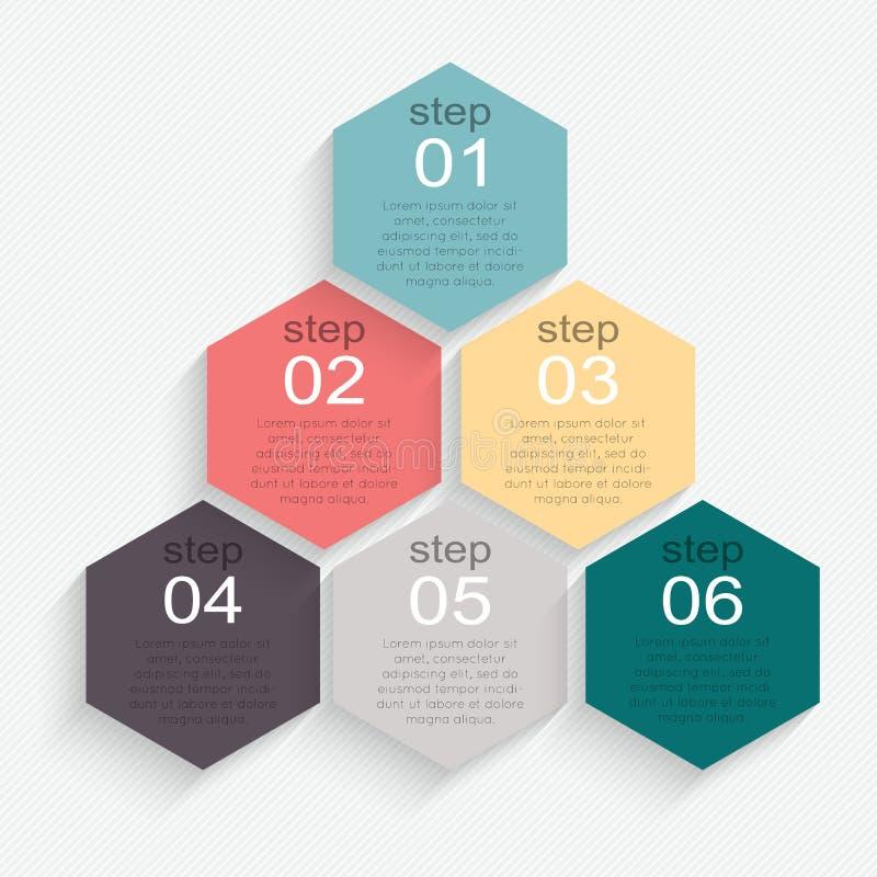 Uppsättning av infographicsbeståndsdelar i modern plan affärsstil vektor illustrationer