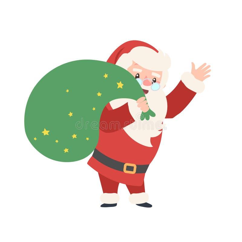 Uppsättning av jul Santa Claus också vektor för coreldrawillustration glada juldesignelement extra bakgrundsformatxmas Vektorroll vektor illustrationer