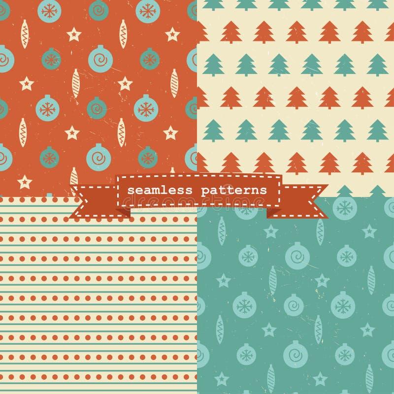 Uppsättning av julmodeller vektor illustrationer