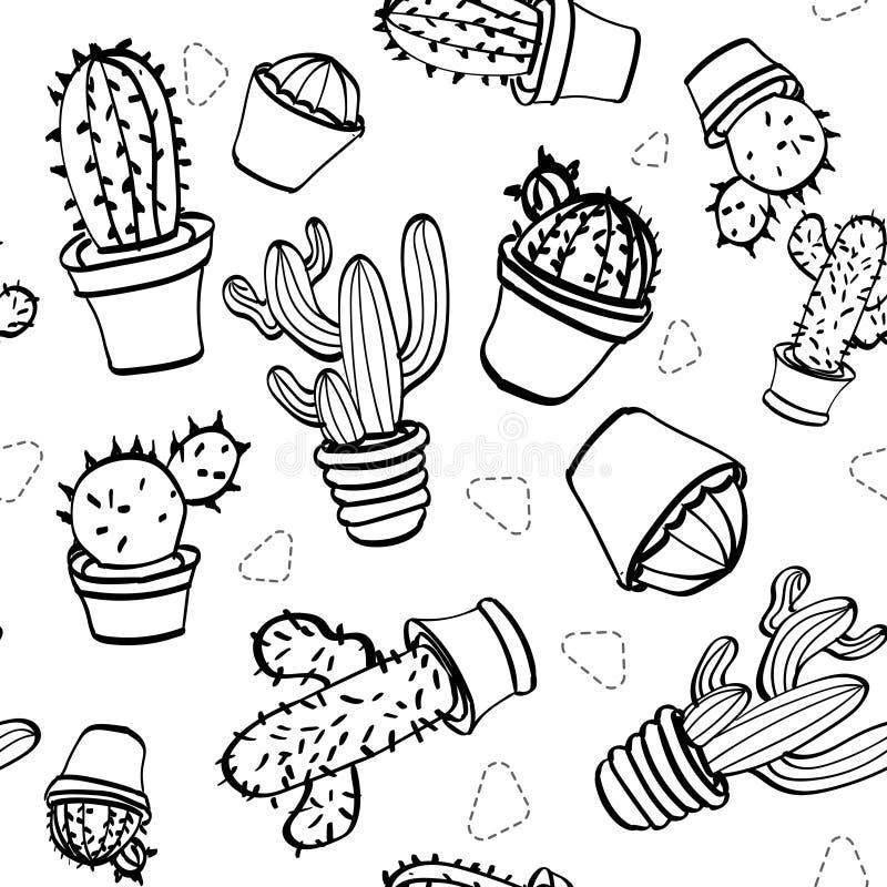 Uppsättning av kaktuns på en ljus bakgrund arkivbilder