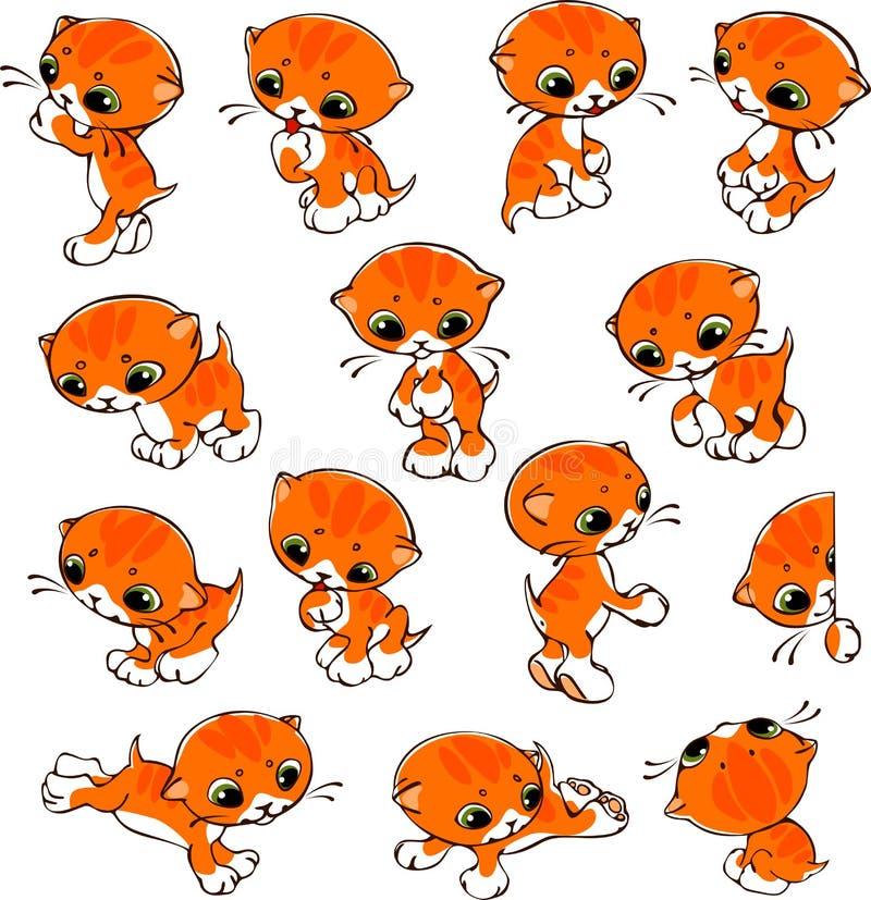 Uppsättning av katter vektor illustrationer