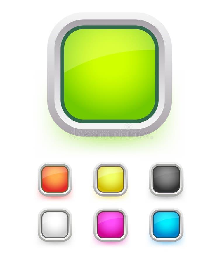 Uppsättning av knappar vektor illustrationer