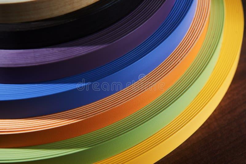 Uppsättning av kulöra termoplastiska kanter fotografering för bildbyråer