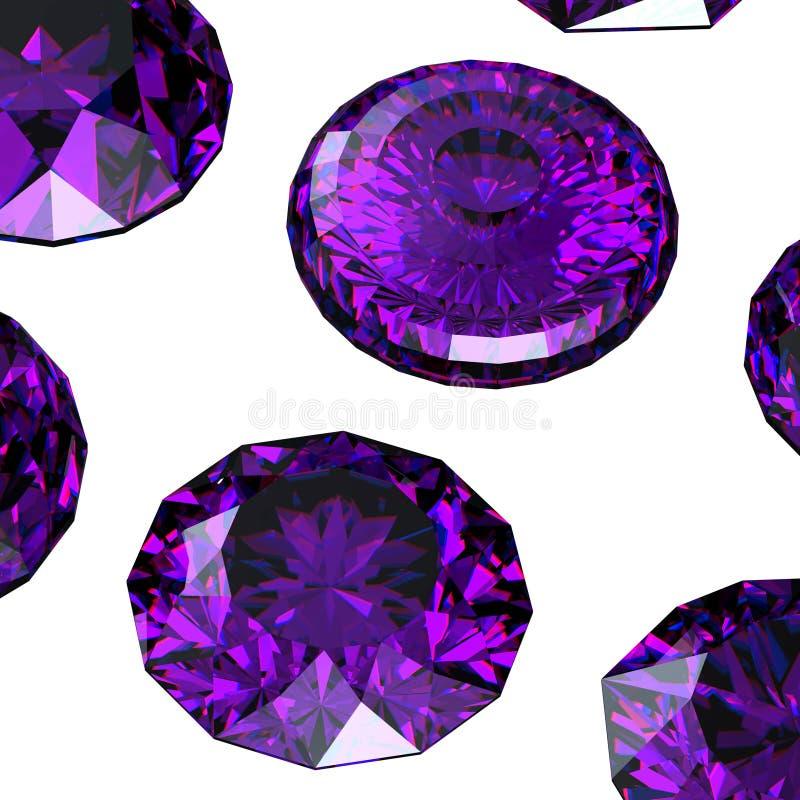 Uppsättning av många olika gemstones royaltyfri illustrationer