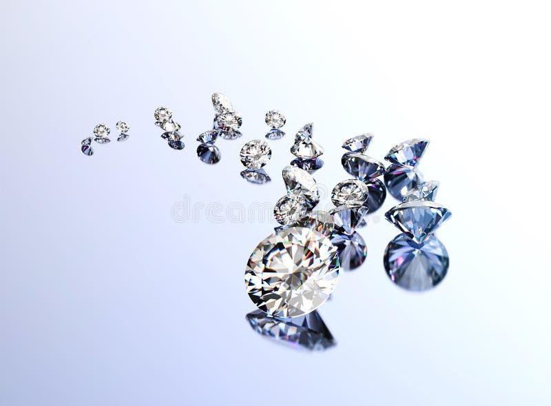 Uppsättning av många olika gemstones royaltyfri bild