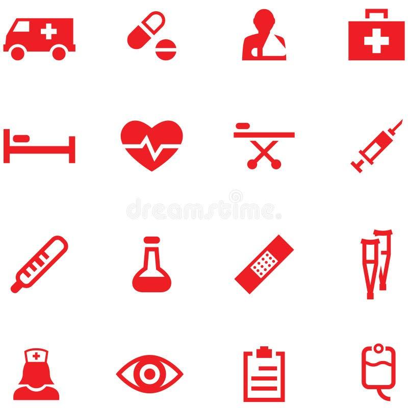 Uppsättning av medicinsymboler royaltyfri illustrationer