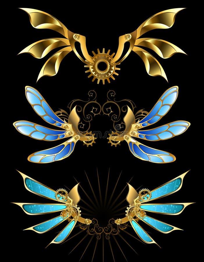 Uppsättning av mekaniska vingar