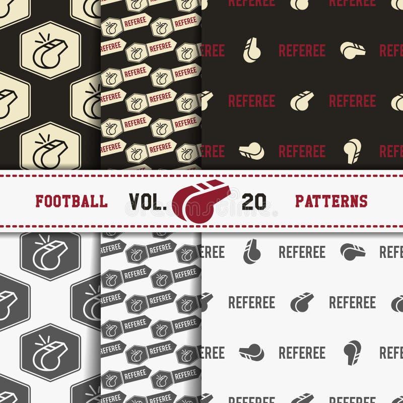 Uppsättning av modeller för amerikansk fotboll USA-sportar vektor illustrationer