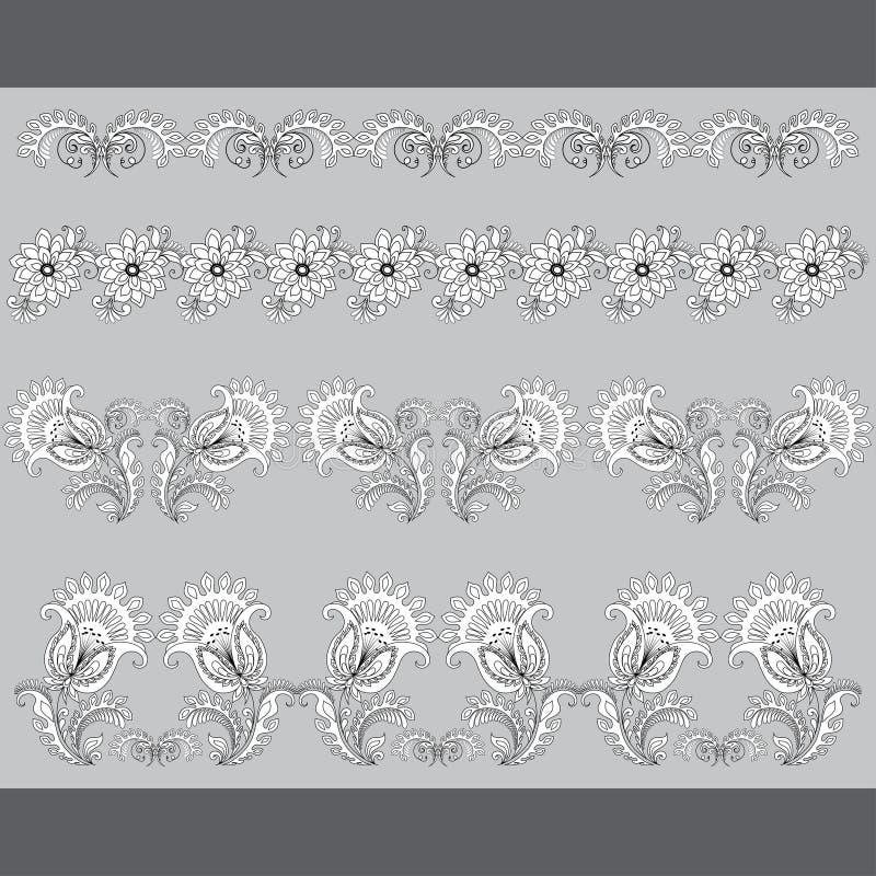 Uppsättning av modeller, gränser för design vektor illustrationer