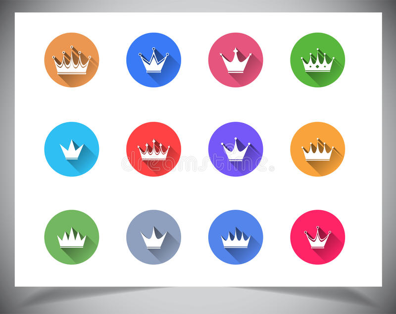 Uppsättning av plana färgknappar. royaltyfria foton
