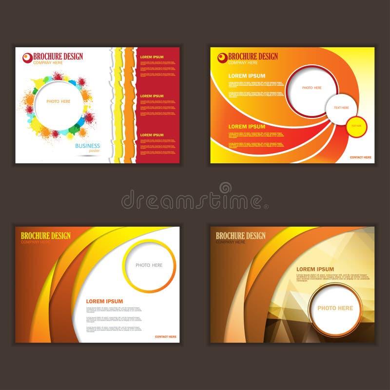 Uppsättning av presentationen av affärsaffischen royaltyfri illustrationer